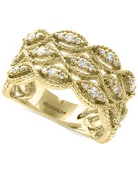 Effy Collection - Metallic Diamond Filigree Ring (1/2 Ct. T.w.) In 14k Gold - Lyst