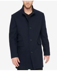 Kenneth Cole - Blue Men's Textured Car Coat for Men - Lyst