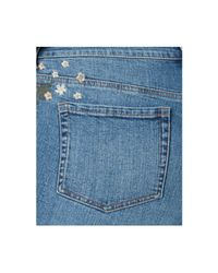 Style & Co. Blue Plus Size Embroidered Distressed Boyfriend Ankle Jeans, Created For Macy's