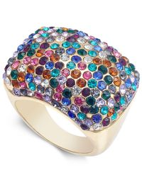 INC International Concepts - Multicolor I.n.c. Gold-tone Crystal Pavé Statement Ring, Created For Macy's - Lyst