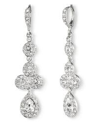 Givenchy - Metallic Pear Crystal Linear Drop Earrings - Lyst