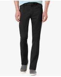 Perry Ellis - Black Slim-fit Solid Sateen Pants for Men - Lyst