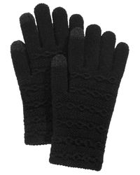 Steve Madden - Black Cable-knit Itouch Gloves - Lyst