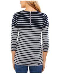 Jessica Simpson Blue Ruched Nursing Top