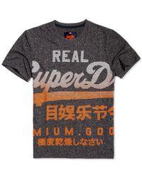 Superdry - Black Graphic-print T-shirt for Men - Lyst