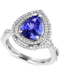 Effy Collection - Blue Tanzanite (2-1/10 Ct. T.w.) And Diamond (1/2 Ct. T.w.) In 14k White Gold - Lyst