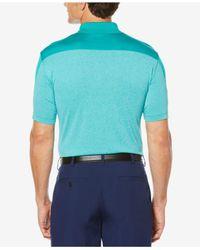 PGA TOUR - Blue Men's Colorblocked Golf Polo for Men - Lyst