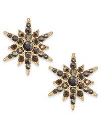 INC International Concepts - Metallic Gold-tone Pavé Starburst Earrings - Lyst