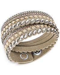 Swarovski - Multicolor Stainless Steel Slake Pulse Crystal Wrap Bracelet - Lyst