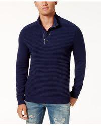 INC International Concepts | Blue Men's Quarter-zip Sweater for Men | Lyst