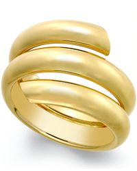 Macy's - Metallic Three Row Coil Bypass Ring In 14k Gold - Lyst