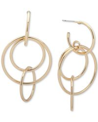 Nine West | Metallic Multi-circle Drop Earrings | Lyst