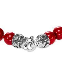Scott Kay - Metallic Men's Red Shell Pearl (8mm) Bead Bracelet In Sterling Silver - Lyst