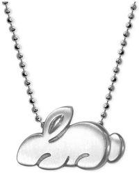 Alex Woo - Metallic Little Rabbit Zodiac Pendant Necklace In Sterling Silver - Lyst