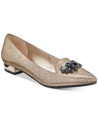 Anne Klein - Multicolor Kamy Pointed-toe Slip-on Flats - Lyst