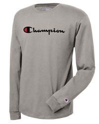 b8a05d118521 Champion Long-sleeve Logo T-shirt in Gray for Men - Lyst