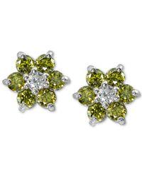 Giani Bernini - Metallic Cubic Zirconia Flower Stud Earrings In Sterling Silver, Created For Macy's - Lyst