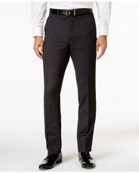 Perry Ellis - Men's Extra Slim-fit Black Pinstripe Suit for Men - Lyst