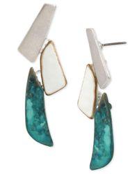 Robert Lee Morris - Blue Linear Drop Earrings - Lyst