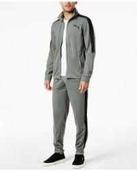 PUMA - Gray Contrast Track Jacket for Men - Lyst