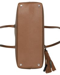 Calvin Klein - Brown Maggie Leather Tote - Lyst