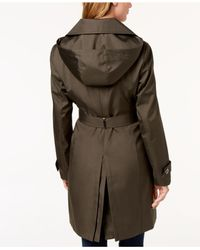 Calvin Klein - Natural Belted Waterproof Trench Coat - Lyst
