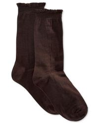 Hue - Brown Women'S Solid Femme Top Sock - Lyst