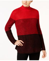 Calvin Klein - Red Ombré Colorblocked Sweater - Lyst