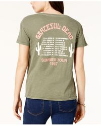 Junk Food - Green Grateful Dead Cotton Graphic T-shirt - Lyst