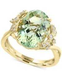 Effy Collection - Green Effy® Prasiolite (5-9/10 Ct. T.w.) & Diamond (1/10 Ct. T.w.) Ring In 14k Gold - Lyst