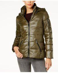 INC International Concepts - Green Puffer Coat - Lyst