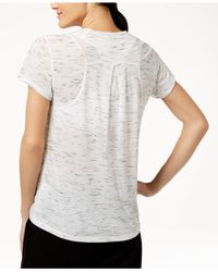 Calvin Klein - White Performance Epic Pleated-back Top - Lyst