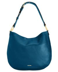 CALVIN KLEIN 205W39NYC - Blue Erica Large Pebble Hobo - Lyst