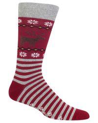 Hot Sox - Red Men's Reindeer Socks for Men - Lyst