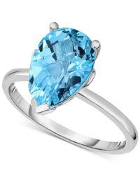 Macy's - Blue Topaz (3-5/8 Ct. T.w.) Ring In Sterling Silver - Lyst