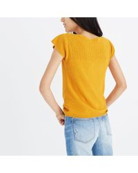 Madewell - Orange Marin Sweater Tee - Lyst