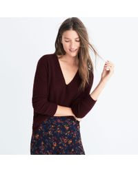 Madewell | Multicolor Warmlight V-neck Pullover Sweater | Lyst