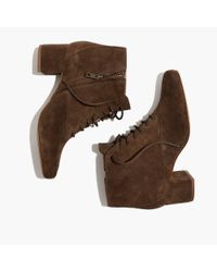 Madewell - Brown The Walker Lace-up Boot - Lyst