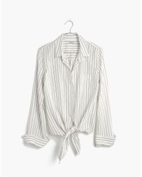 Madewell - Multicolor Tie-front Shirt In Darcy Stripe - Lyst