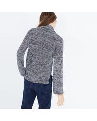 Madewell | Blue Mockneck Pullover Top | Lyst
