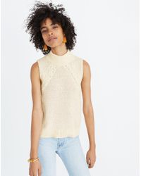 Madewell - Multicolor Stitch-mix Mockneck Sweater Tank - Lyst