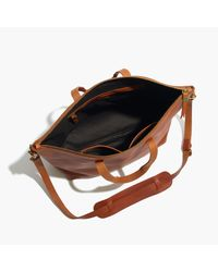 Madewell - Brown The Transport Satchel - Lyst
