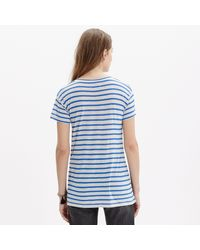 Madewell - Blue Anthem Short-sleeve Scoop Tee In Stripe - Lyst