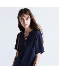 Madewell - Blue Novella Lace-up Dress - Lyst