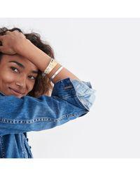 Madewell - Metallic Etchmix Bangle Bracelet - Lyst