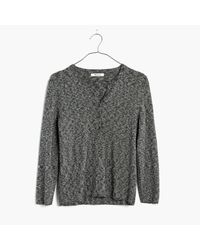 Madewell   Multicolor Marled Henley Pullover Sweater   Lyst