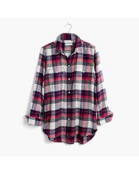 Madewell | Multicolor Flannel Classic Ex-boyfriend Shirt In Drayton Plaid | Lyst