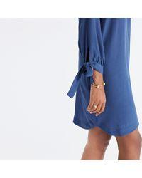 Madewell - Blue Du Jour Tie-sleeve Tunic Dress - Lyst