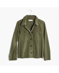 Madewell | Green Northward Cropped Army Jacket | Lyst