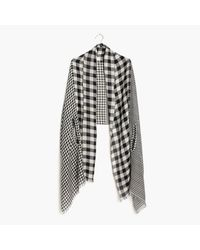 Madewell | Black Patchwork Gingham Cape Scarf | Lyst